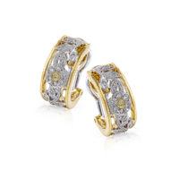 Simon G Flower Diamond Earrings