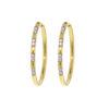 18k Yellow Gold Diamond Hoop Earring