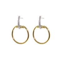 18k Classica Parisienne Yellow Gold Small Diamond Circle Earrings