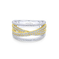 14k Yellow/White Gold Fashion Diamond Ladies Ring
