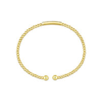 14k White Yellow Diamond Bangle