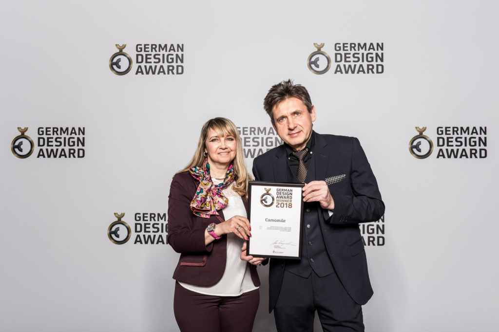 Alexander Shorokhoff and Wife with German Design Award