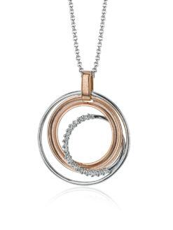 Simon G Circle Fashion Diamond Pendant