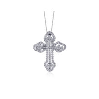 Simon G Diamond Cross Pendant