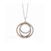 Simon G 18K White and Rose Gold Diamond Pendant with Chain