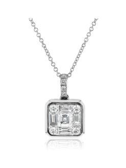 Simon G 18k Diamond Pendant with necklace