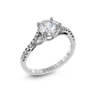 Simon G White Gold Diamond Semi-Mount Ring