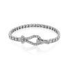 Simon G 18K White Gold Buckle Style Diamond Bracelet