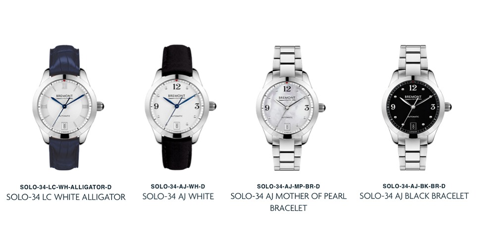 Bremont Solo-34 Collection 2019 Ladies watches