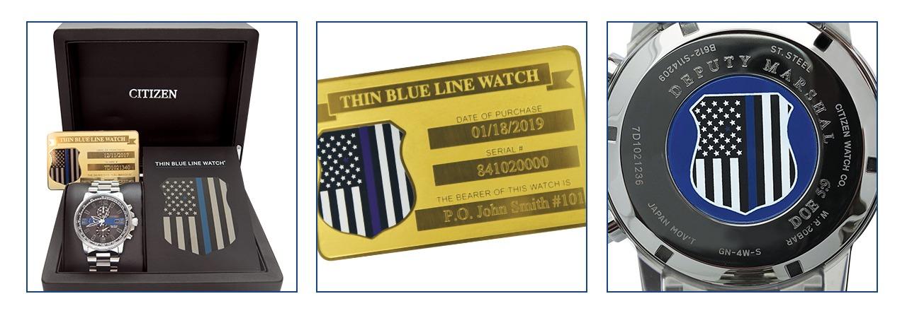 Men's Thin Blue Line Watch Set