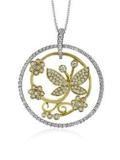 Simon G Butterfly Diamond Necklace