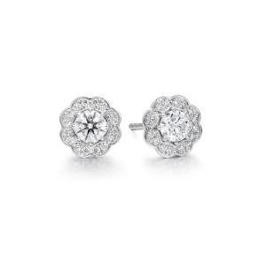 LORELEI DIAMOND HALO STUD EARRINGS