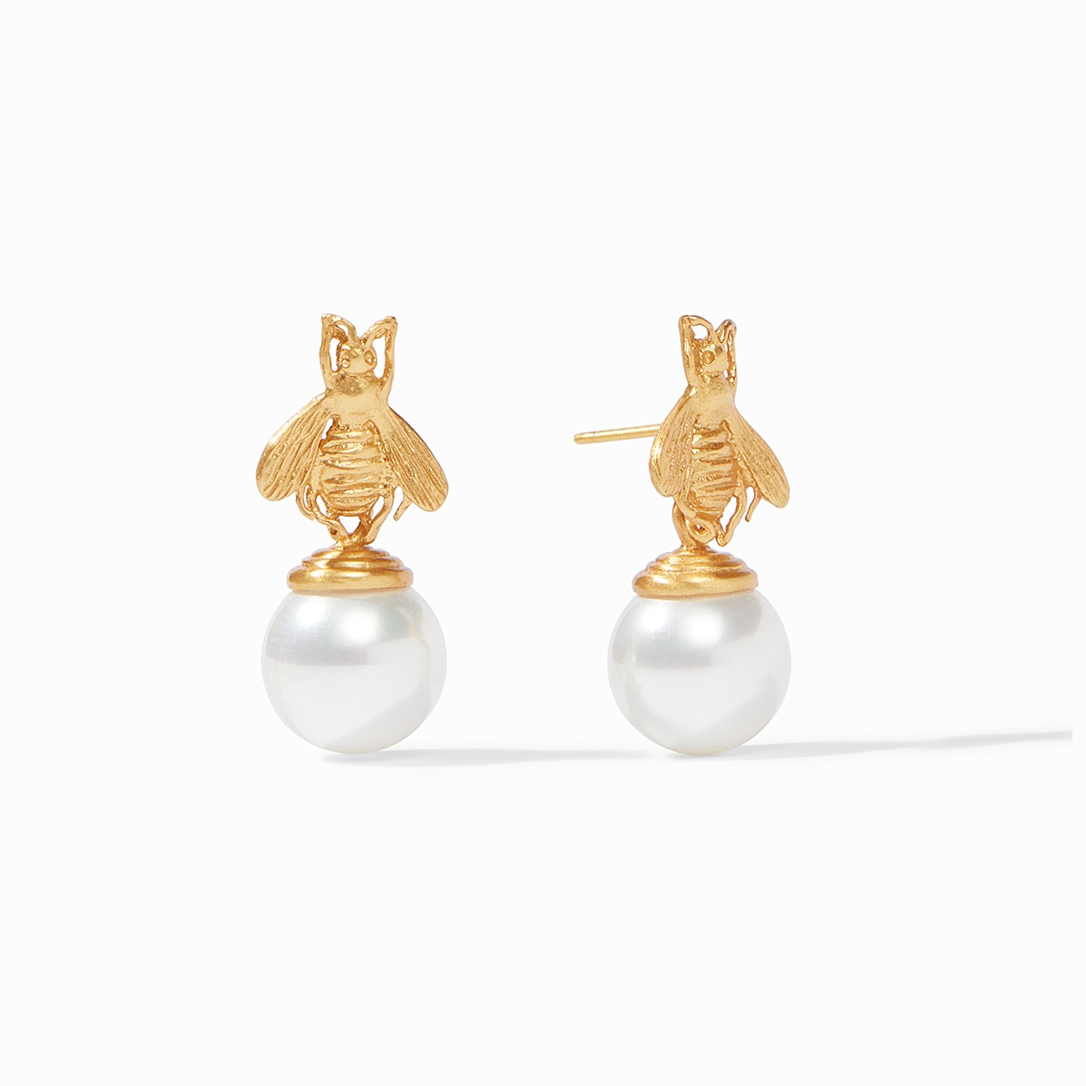 Bee Pearl Drop Earrings