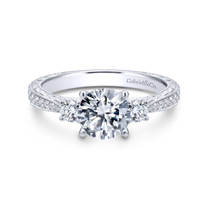 Gabriel Diamond Engagement Ring Front