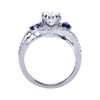 Demi 14K White Gold Engagement Ring