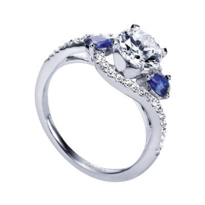 Demi 14K White Gold Engagement Ring