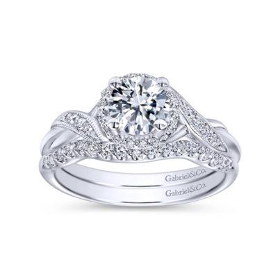 Shae 14K White Gold Round Halo Diamond Engagement Ring