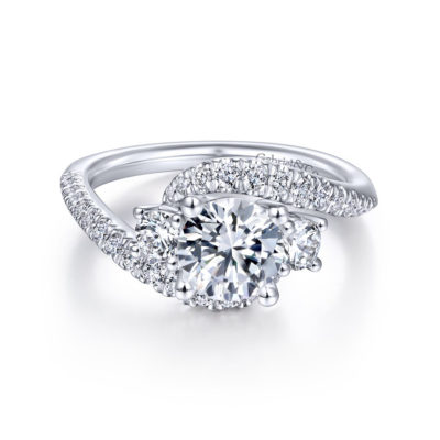Frannie 14K White Gold Round Diamond Engagement Ring