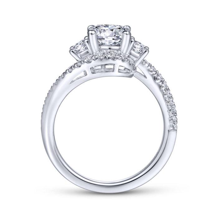 Frannie 14K White Gold Round Diamond Engagement Ring