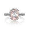 Henri Daussi Vintage 14K White Gold Engagement Ring ZDTP