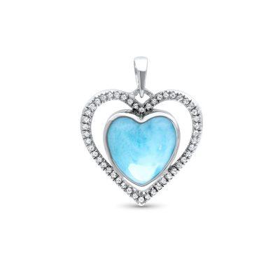 Marahlago Infinity Heart Larimar Necklace