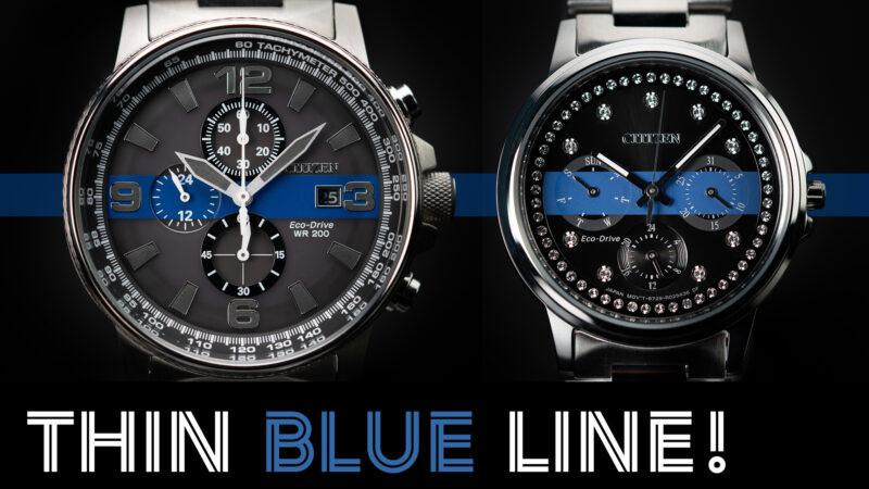 Citizen Thin Blue Line Watch
