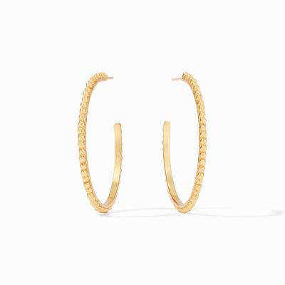 Julie Vos Colette Bead Hoop Gold Large