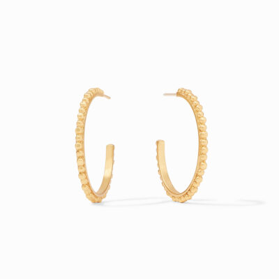 Colette Bead Hoop Gold Medium