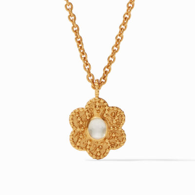 Colette Demi Pendant Gold Iridescent Clear Crystal