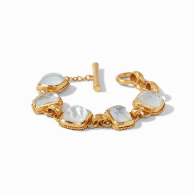 Savoy Demi Bracelet Gold Iridescent Clear Crystal