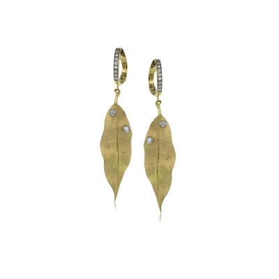 Simon G leaf earrings