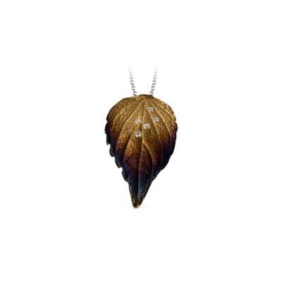 Simon G leaf pendant