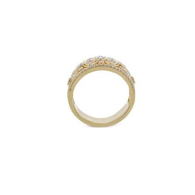 Simon G Yellow Gold Diamond Fashion Ring