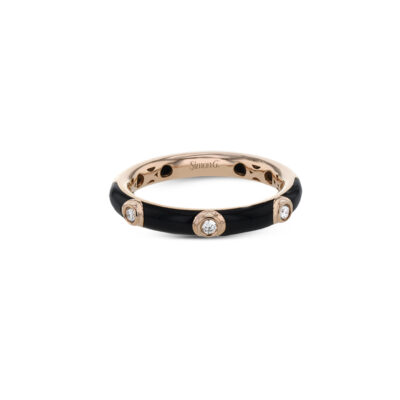Simon G Black Enamel Ring