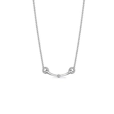 Judith Ripka Sterling Silver Vienna Bit Necklace With Diamonds