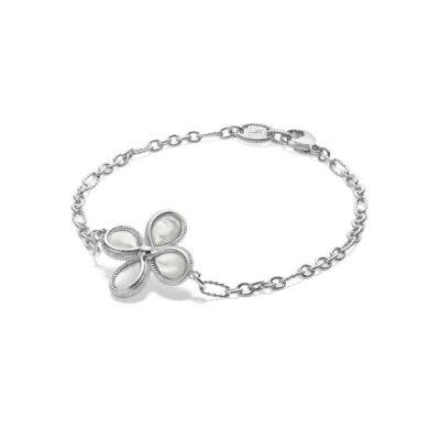 Judith Ripka Sterling Silver Jardin Bracelet With Mother Of Pearl