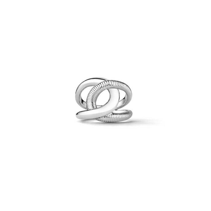 Judith Ripka Sterling Silver Eternity Embrace Ring