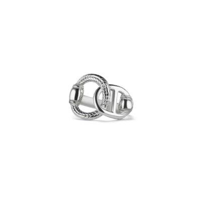 Judith Ripka Sterling Silver Vienna Interlocking Ring