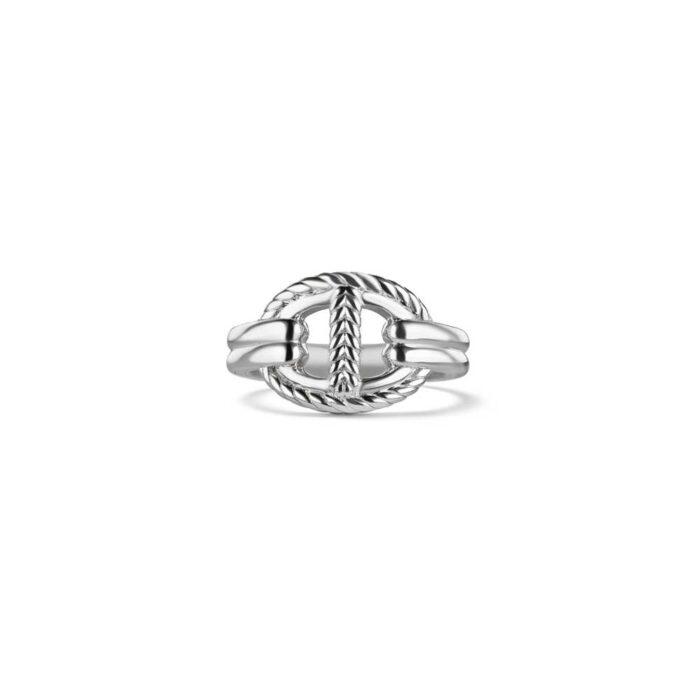 Judith Ripka Sterling Silver Vienna Single Link Ring