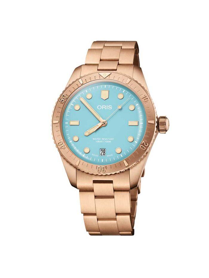 Oris Sky Blue Bronze Ladies Diver