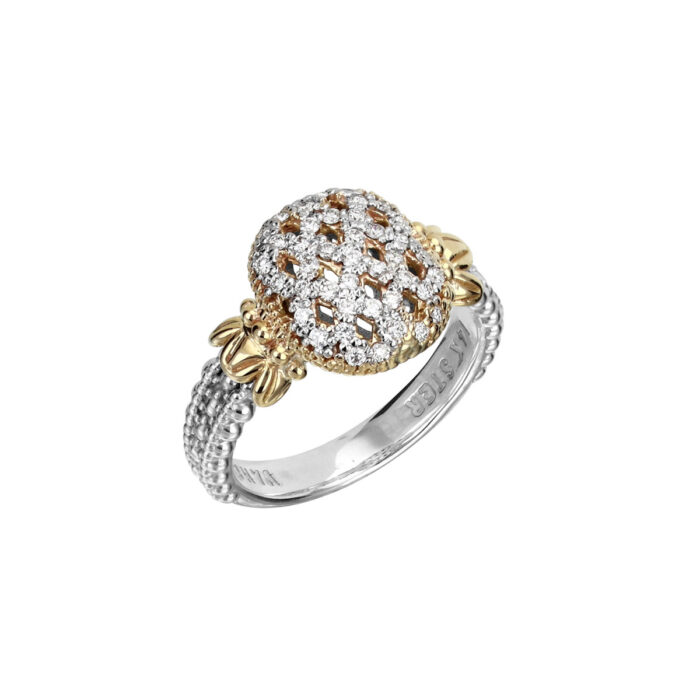 Sterling Silver with 14KYG with Diamond 0.31ctw Ring by Vahan