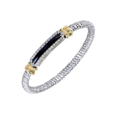 Vahan Bangle with Diamonds and Black onyx