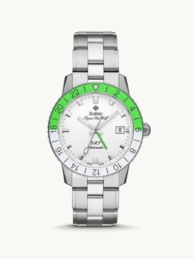 Super Sea Wolf GMT Automatic Neon Stainless Steel Watch