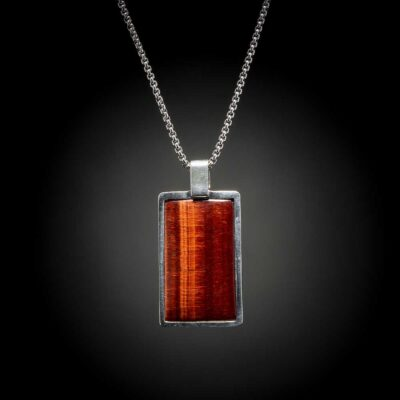 Red Tiger Eye Shift Necklace