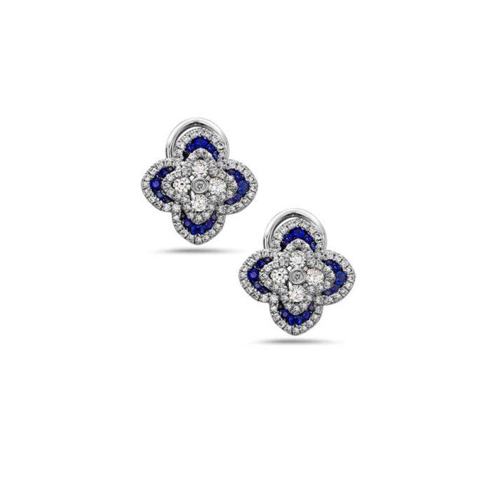 Charles Krypell Precious Quatrefoil Stud Earrings