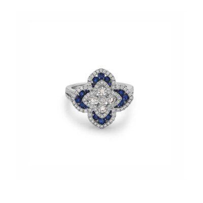 Charles Krypell Diamond Regal Flower Ring
