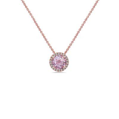 Pastel Diamond Station Necklace