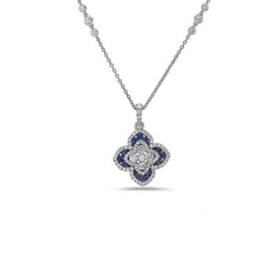 Charles Krypell Blue Sapphire Necklace