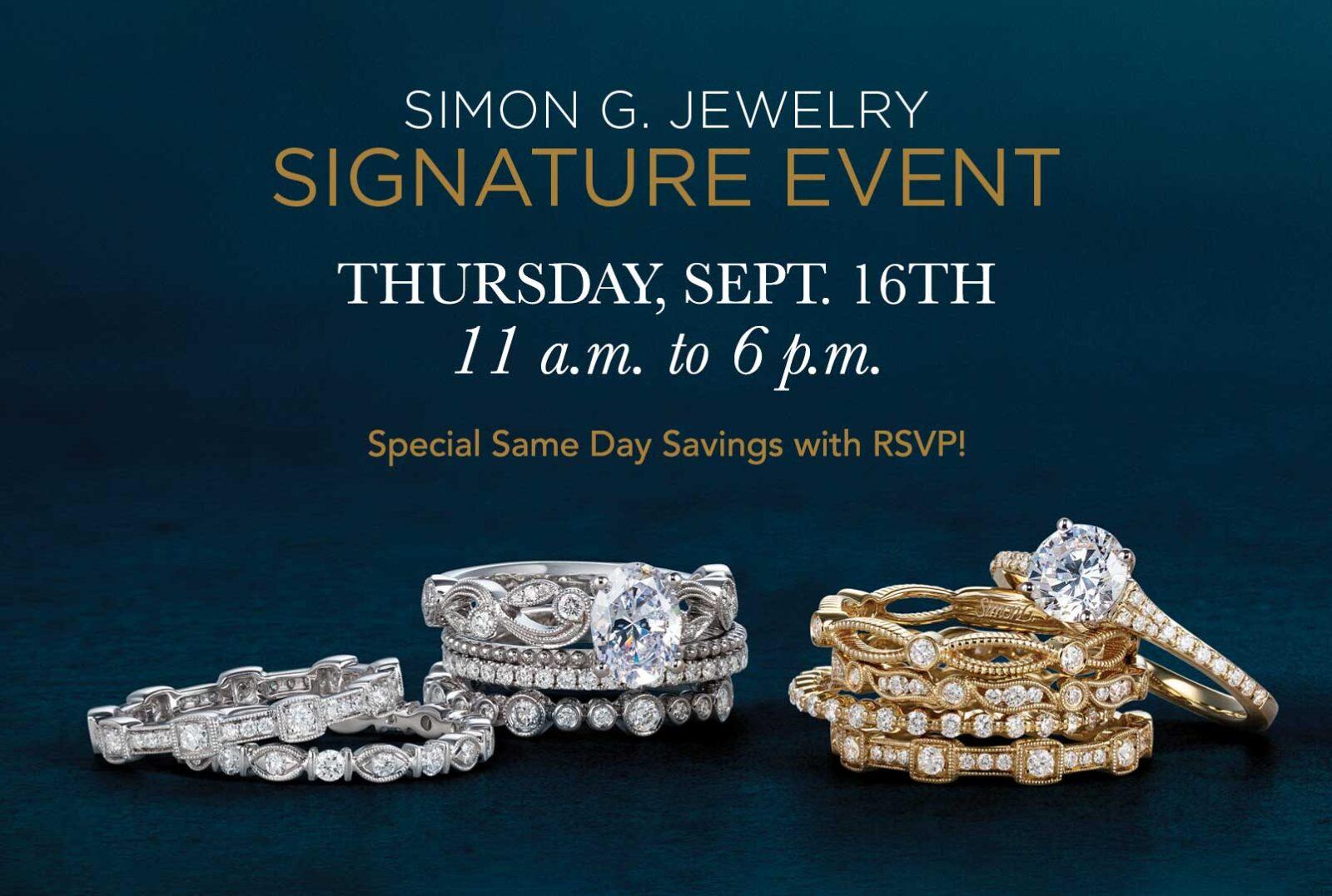 Simon G Signature Event